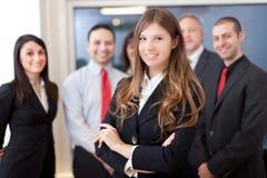 Gruppo sorridente di gente di affari Fotografia Stock Libera da Diritti