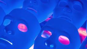 Gruppo spaventoso del blu delle maschere archivi video
