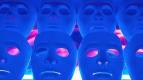 Gruppo spaventoso del blu delle maschere video d archivio