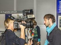 Gruppo tedesco di pallamano Fotografia Stock Libera da Diritti