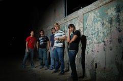 Gruppo teenager d'avanguardia Fotografia Stock Libera da Diritti