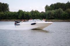 Gruppo turistico nel delta del Danubio Immagine Stock