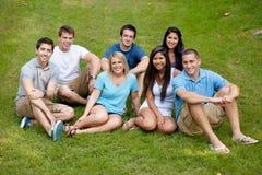 Gruppo vario di giovani adulti Fotografia Stock Libera da Diritti