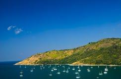 gruppphuket thailand yacht Royaltyfria Foton