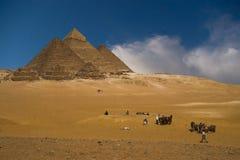 grupppyramider royaltyfri foto