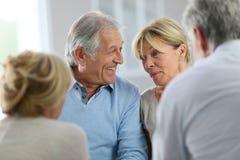 Gruppterapi av pensionärer Royaltyfri Fotografi
