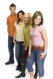 grupptonåringar Royaltyfria Bilder