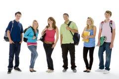 gruppungeskolan sköt tonårs- Royaltyfri Bild