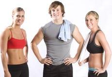 grupuje młodych zdrowych ludzi Zdjęcia Stock
