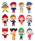 grupy dzieci szczęśliwe ilustracji