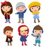 grupy dzieci szczęśliwe royalty ilustracja