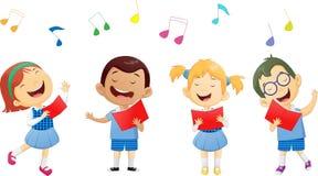Grupy dziecko w wieku szkolnym śpiewa w chorze Fotografia Royalty Free
