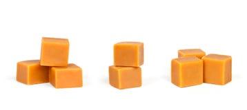 Grupy karmelu cukierek Zdjęcia Royalty Free