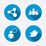 Grupy ludzi i części ikony bąbla graficznej osoby mowy target14_0_ wektor ilustracji