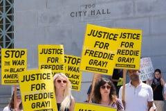Grupy ludzi mienia znaki Zdjęcie Royalty Free