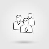 Grupy ludzi szyldowa ikona ilustracja wektor