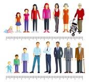 Grupy mężczyzna i kobiety ilustracja wektor