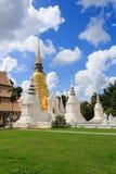 Grupy pagody pod niebieskim niebem Fotografia Stock