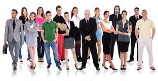 Grupy różni ludzie w jeden linii Zdjęcia Royalty Free
