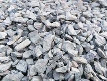 Grus krossad sten, sten Arkivfoton