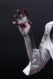 Gruselige blutige Zombiehand Lizenzfreies Stockfoto