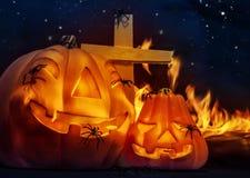 Gruselige Halloween-Nacht Stockfotos