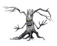 Gruseliger Baum bietet einen freundlichen Gruß an Lizenzfreie Stockfotos