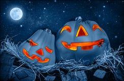 Gruseliger Halloween-Kürbis Lizenzfreies Stockfoto