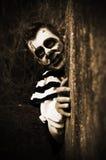 Gruseliger Horrorclown stockbild
