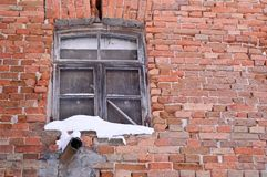 Gruseliges Fenster, in verlassen Lizenzfreie Stockfotografie