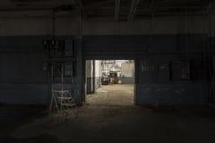 Gruseliges Foto einer verlassenen Fabrik lizenzfreie stockbilder