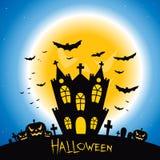 Gruseliges Haus Halloweens lizenzfreie abbildung