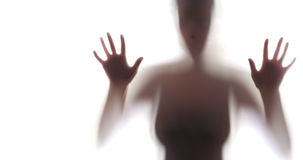 Gruseliges Schattenbild der Frau Lizenzfreies Stockfoto