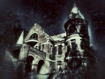 Gruseliges Schloss stockfotos