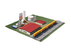 Grusproduktionfabrik Arkivbild
