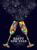 GRUSSkarte des neuen Jahres 2015 Glasfarb stock abbildung