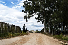 Grusväg Arkivfoto