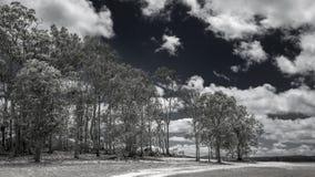 Grusväg på Resevoir sjön Arkivbilder