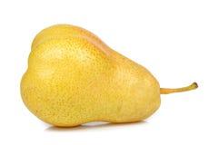 gruszki tła bieli pojedynczy żółty Obraz Royalty Free
