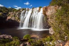 Gruta瀑布- Serra da Canastra国家公园- Delfinopolis 库存图片