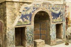 Gruta adornada antigua en la casa de Neptuno, Herculano, Italia Imagen de archivo libre de regalías
