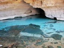Gruta Azul (cueva azul) en Chapada Diamantina, el Brasil Fotografía de archivo