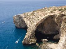 Gruta azul - Gozo, Malta Fotografia de Stock Royalty Free