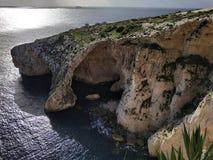 Gruta azul Malta foto de archivo