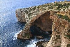 Gruta azul, Malta Fotografía de archivo libre de regalías