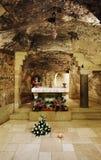 Gruta de la Virgen Maria, Nazareth Fotos de archivo