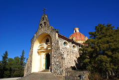 Gruta de Lourdes in Alta Gracia. A beautiful stone church at the Gruta de Lourdes in Alta Gracia. This is a historical place in Alta Gracia and many people royalty free stock photography