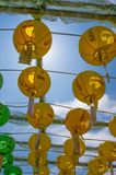Gruta de Seokguram e centro do patrimônio mundial do UNESCO do templo de Bulguksa - lanternas de papel coloridas bonitas imagem de stock royalty free