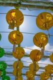 Gruta de Seokguram y centro del patrimonio mundial de la UNESCO del templo de Bulguksa - linternas de papel coloridas hermosas imagen de archivo libre de regalías