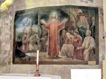 Gruta Jesus Praying de Gethsemane do Jerusalém entre os apóstolos 20 Fotografia de Stock Royalty Free